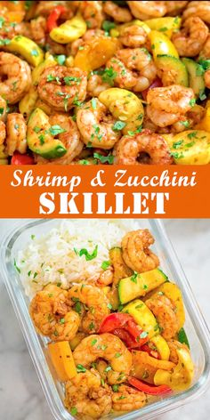 healthy shrimp recipes This Easy Shrimp and Vegetable Skillet makes a healthy, quick, and delicious dinner! Packed with wild-caught shrimp, tender zucchini, and sweet bell pepper Healthy Meal Prep, Healthy Dinner Recipes, Healthy Snacks, Paleo Meals, Quick Easy Healthy Dinner, Healthy Sausage Recipes, Healthy Recipe Videos, Vegetarian Recipes, Clean Eating Recipes