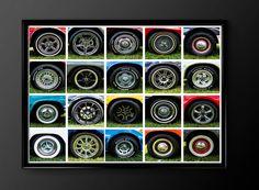 Hot Rod Classic Car Print Car Wheels by TheCuttingEdgeShop