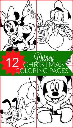 free disney christmas printable coloring pages for kids - Printable Kids Coloring