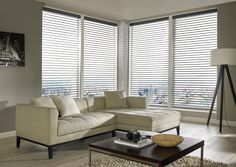 Made to measure Sheer Horizon Blinds For Your Windows | Illumin8 Blinds |  Fiona Mink Blinds in Down Open Position