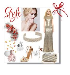 """Christmas Fahion Diary!!"" by stylediva20 ❤ liked on Polyvore featuring Inge Christopher, Badgley Mischka, Alexis Bittar and Aquazzura"