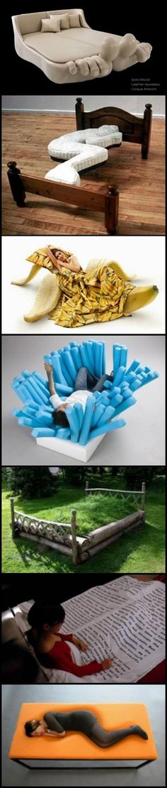 Weird but cool beds Funky Furniture, Unique Furniture, Furniture Ideas, Awesome Bedrooms, Cool Rooms, My New Room, My Room, Weird Beds, Crazy Beds