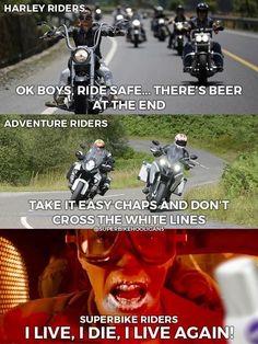 I live, I die, I live again 🤣🤣😍 - Motorrad - Motos Car Jokes, Funny Car Memes, Funny Animal Memes, Really Funny Memes, Stupid Funny Memes, Funny Laugh, Funny Relatable Memes, Bike Humor, Motorcycle Humor