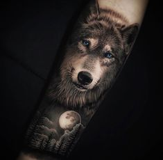 Realistic Inspiration | Inkstinct Girl Arm Tattoos, Wolf Tattoos, Forearm Tattoos, Tattoo Signs, S Tattoo, Coyote Tattoo, Barcelona Tattoo, Wolf Tattoo Design, Realism Tattoo