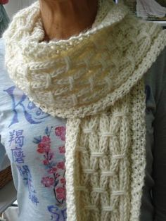 Free knitting pattern for Lazy Links Scarf and cozy scarf knitting patterns