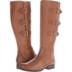 Naturalizer Jewels Women's Shoes, Brown ($85) ❤ liked on Polyvore featuring shoes, boots, brown, knee-high boots, knee length boots, zipper boots, long brown boots, knee high riding boots and low heel boots
