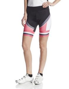 NEW 2XU Womens Sublimated Cycle Short  Black/Synthetic Pink  Small #_ #_
