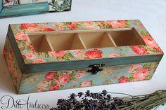 Hecho a mano caja de madera de BlueTea de luz caja de por ArtDidi                                                                                                                                                                                 Más