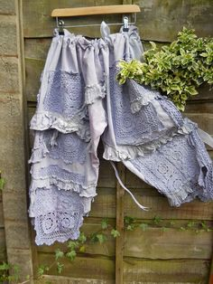 Bloomers upcycled from doilies etc