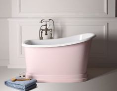 tubby torre pink bath tub small soaking