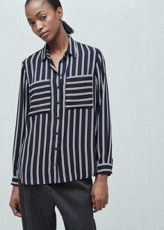 Pocket striped shirt | MANGO