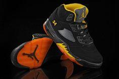 Air Jordan 5 V Retro Shoes Black Orange Super Deal, Air Jordan 5 Retro, Retro Shoes, Air Jordan Shoes, Black Shoes, Air Jordans, Kicks, Sneakers Nike, Orange Yellow