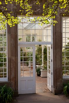 Entrance to The Orangery at Culzean Castle, Ayrshire, Scotland.