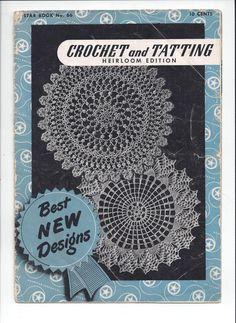 Crochet & Tatting Heirloom Edition, Star Book No. 66, from 1949, The American Thread Company, Vintage Crochet Book, Tatting, Crochet Edges by VictorianWardrobe on Etsy