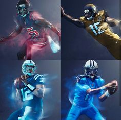 NFL: AFC South 2016 Color Rush Uniforms #NFLColorRush Nfl Color Rush Uniforms, Best Uniforms, Football Uniforms, Sports Uniforms, Sport Football, Football Helmets, Football Stuff, Seahawks Color Rush, Longhorns Football
