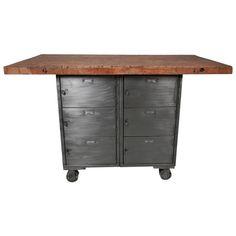 Work Table w/ Locker Base