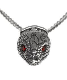 Pamela Love Silver Garnet Serpentine Necklace at Liberty London