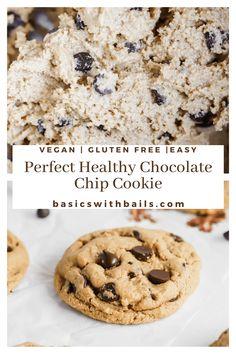 Vegan Gluten Free, Gluten Free Sweets, Vegan Sweets, Gluten Free Baking, Dairy Free Recipes, Paleo, Healthy Cookies, Healthy Dessert Recipes, Healthy Baking