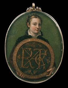Sofonisba Anguissola's smallest known self-portrait, which measures 3 ¼ by 2 ½ inches.