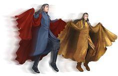 The HobbitよりElrondとLindir