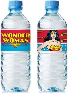 Wonder Woman Bottle Wrap PDF file by freaknsweet on Etsy, $3.00
