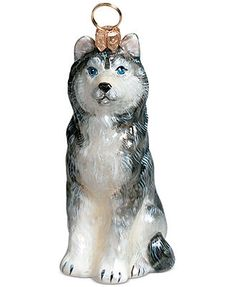Joy to the World Pet Charity Ornament, Pet Set Siberian Husky
