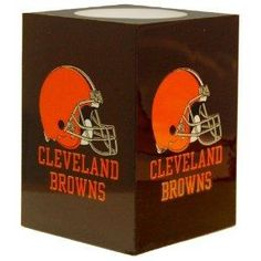Free S/H NFL Cleveland Browns Square Flameless Candle
