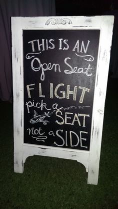 Travel themed wedding chalkboard seating chart airplane destination wedding
