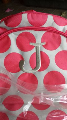 platinum personalization on coral mod dot. Love it on this Hostess Exclusive