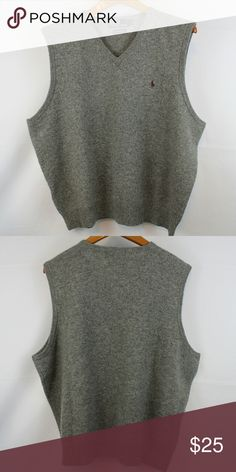 Ralph Lauren Lambswool Sweater Vest Gently worn Good condition 100% Lambswool Size XL Like what you see? I have plenty of other Ralph Lauren clothes in my closet! Ralph Lauren Sweaters V-Neck