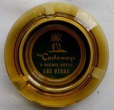 The Castaways A Hughes Hotel Casino Las Vegas Amber Glass Vintage Ashtray       #ASHTRAY