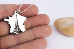 Handmade França Colar Torre Eiffel Jóias Sterling Silver Pendant País por Rock My World, Inc. | CustomMade.com
