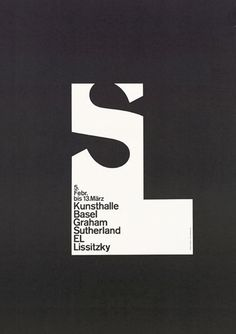 Armin Hofmann I think the organic shape of the S is effectively contrasted against its strict confined frame
