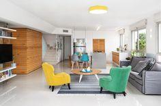 אלכסון זה לא אסון: עיצוב דירת קבלן בחיפה | בניין ודיור