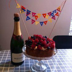 birthday cake bunting love heart