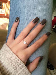 dark chocolate long acrylic nails