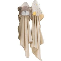 B is for Bear Hooded Towel - 2 Pack