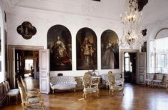 Interior - Ledreborg Castle, Built in 1740-45. Close to the town of Lejre, Region Zealand the southernmost administrative region of Denmark.