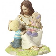 """Precious Moments: """"Be Ye As Little Children"""", Limited Edition Bisque Porcelain Sculpture"""