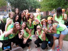 Pi Phi 14s getting ready for the 15s #bidday
