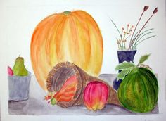 Fall Still Life...watercolor