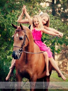 one day hopefully those will be my girls and horse