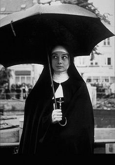 """Nun's Story, The"" Audrey Hepburn on the set"