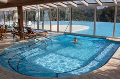 The Llao Llao's inside pool and jaccuzzi