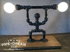 While looking for a lamp for your home, the choices are nearly limitless. Get the perfect living room lamp, bed room lamp, table lamp or any other style for your selected area. Pipe Lighting, Industrial Lighting, Lampe Steampunk, Tiffany Table Lamps, Regal Design, Fluorescent Lamp, Light In, Room Lamp, Bed Room
