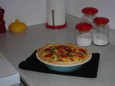 Tomato Basil Brie Pie