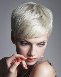 Aveda - short blonde straight hair styles