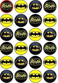 24 x Rice Paper Batman UN-CUT Cupcake / Cake Toppers: Amazon.co.uk: Kitchen & Home Batman Cupcakes, Lego Batman Cakes, Batman Birthday Cakes, Superhero Birthday Party, Baby Batman, Batman And Batgirl, Batman Free, Batman Logo, Batman Party Decorations