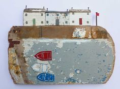 Harbour with boats  -  Kirsty Elson Designs