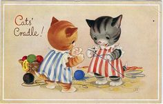 Cats' Cradle (Valerie Hodge postcard) by dakota_boo, via Flickr